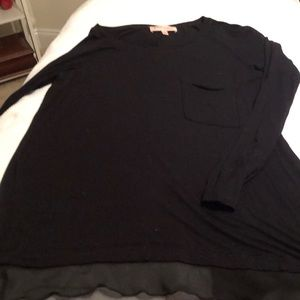 Worn Once Philosophy tunic with sheer trimming